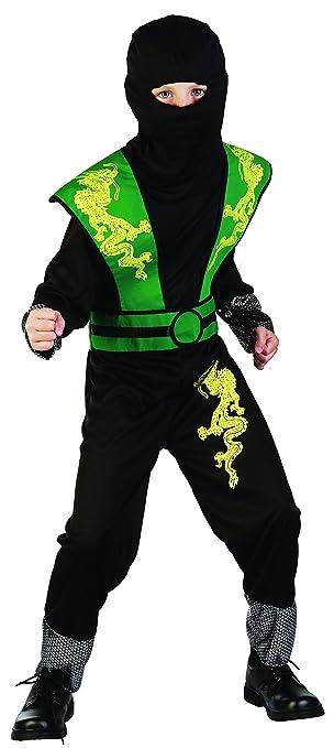 Magicoo Dragon Ninja Kostum Kinder Grun Schwarz Halloween Karneval