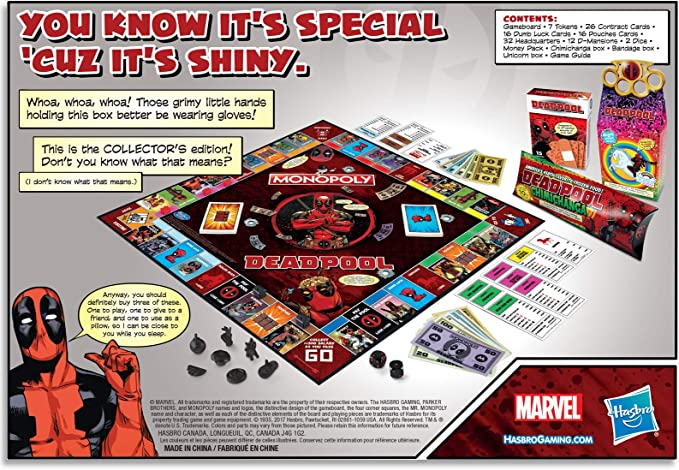 Hasbro Monopoly Deadpool Collectors Edition Board Game: Amazon.es: Juguetes y juegos
