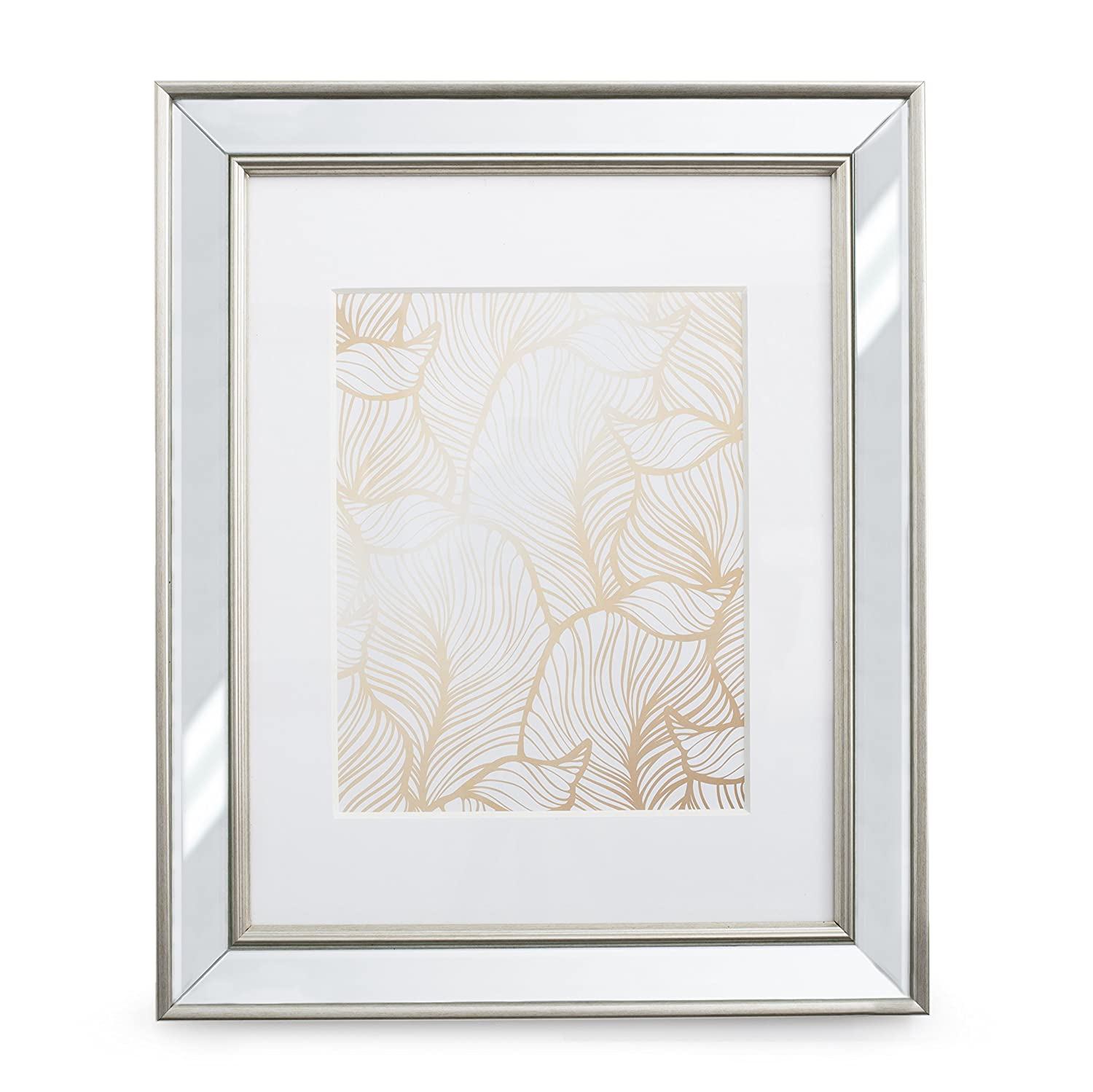 Amazon 11x14 mirrored picture frame matted to 8x10 frames amazon 11x14 mirrored picture frame matted to 8x10 frames by ecohome jeuxipadfo Image collections