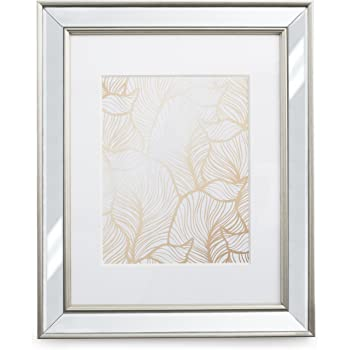 11x14 Mirrored Picture Frame Matted To 8x10 Frames By Ecohome