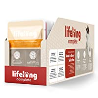 Marque Amazon- Lifelong Aliment complet pour chats adultes- Sélection à la viande en sauce, 2,4 kg (24 sachets x 100g)