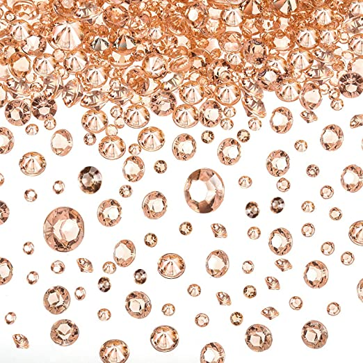 6.5mm WEDDING DECORATION Table Scatter Crystals ACRYLIC DIAMONDS CONFETTI