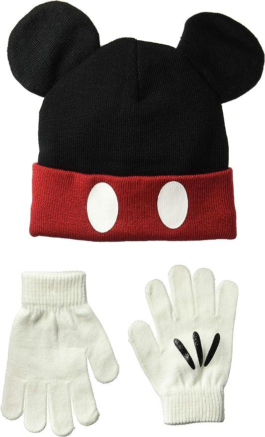 Mickey Mouse Halloween hat Handmade Bright Orange Beanie with Disney Inspired Mickey Bat Villain Autumn Fall Winter Apparel