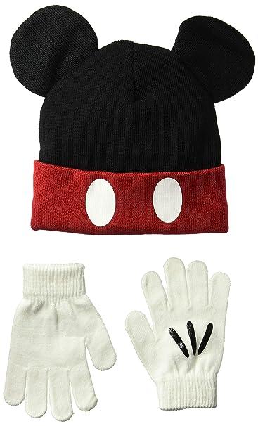 c330ad1ca9d Amazon.com  Disney Classics Mickey Mouse Winter Beanie   Glove Set  Clothing