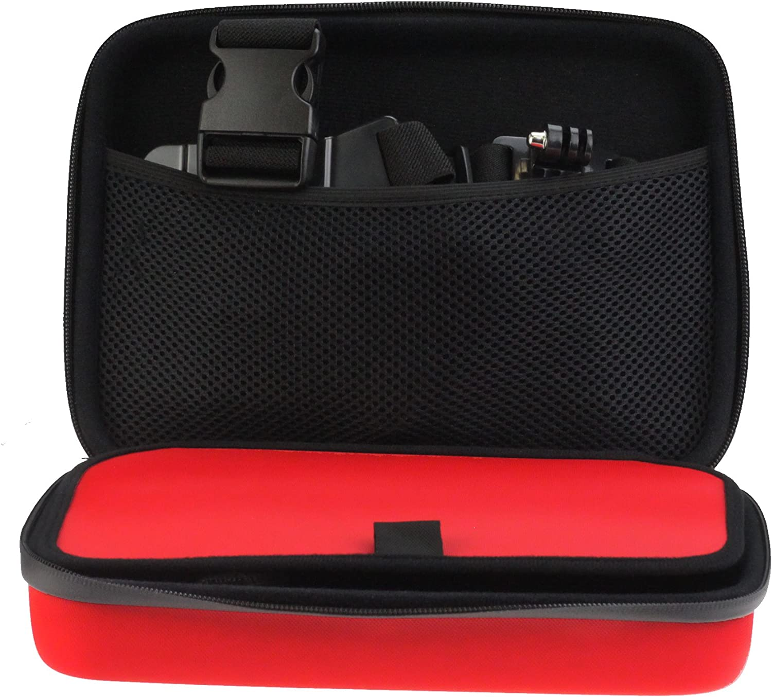 Navitech Red Hard Rugged Protective Portable Handheld Binocular Case Compatible with The Nikon Monarch 10x30