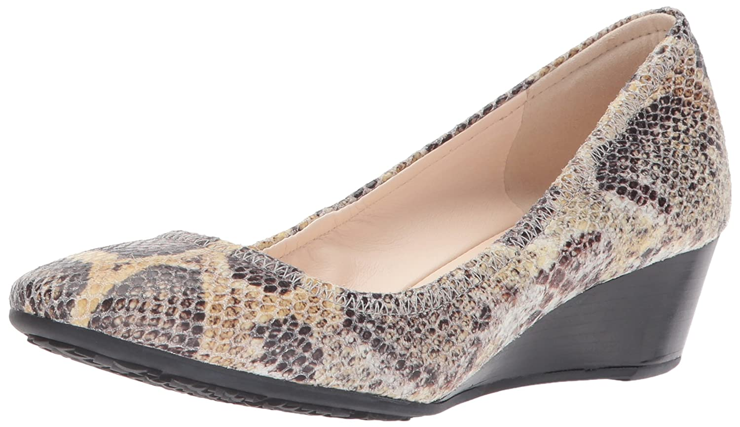 Roccia Snake Print Leather Cole Haan Women's Sadie Wedge 40MM Pump