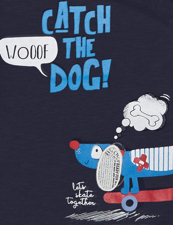 Blue Seven Mini Jungen Langarmshirt Hund Maglia a Maniche Lunghe Bimbo