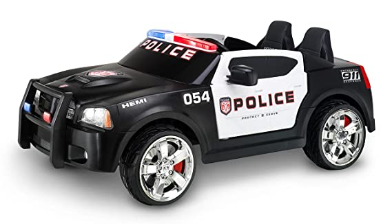 Kid Trax Charger Police Car 12v Battery Powered Ride On Toy