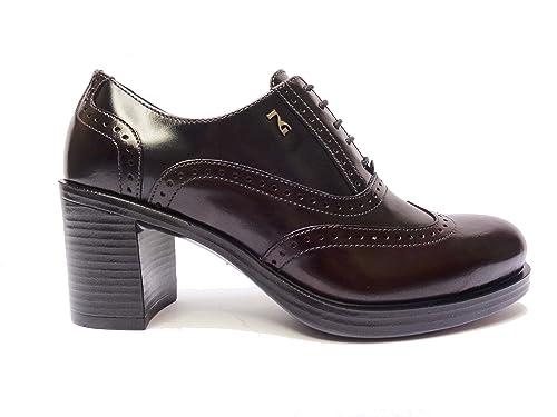 Nero Giardini 19363 scarpe da donna francesine in pelle Bordò Grigio Blu  tacco cm 7fab3aeb3e4