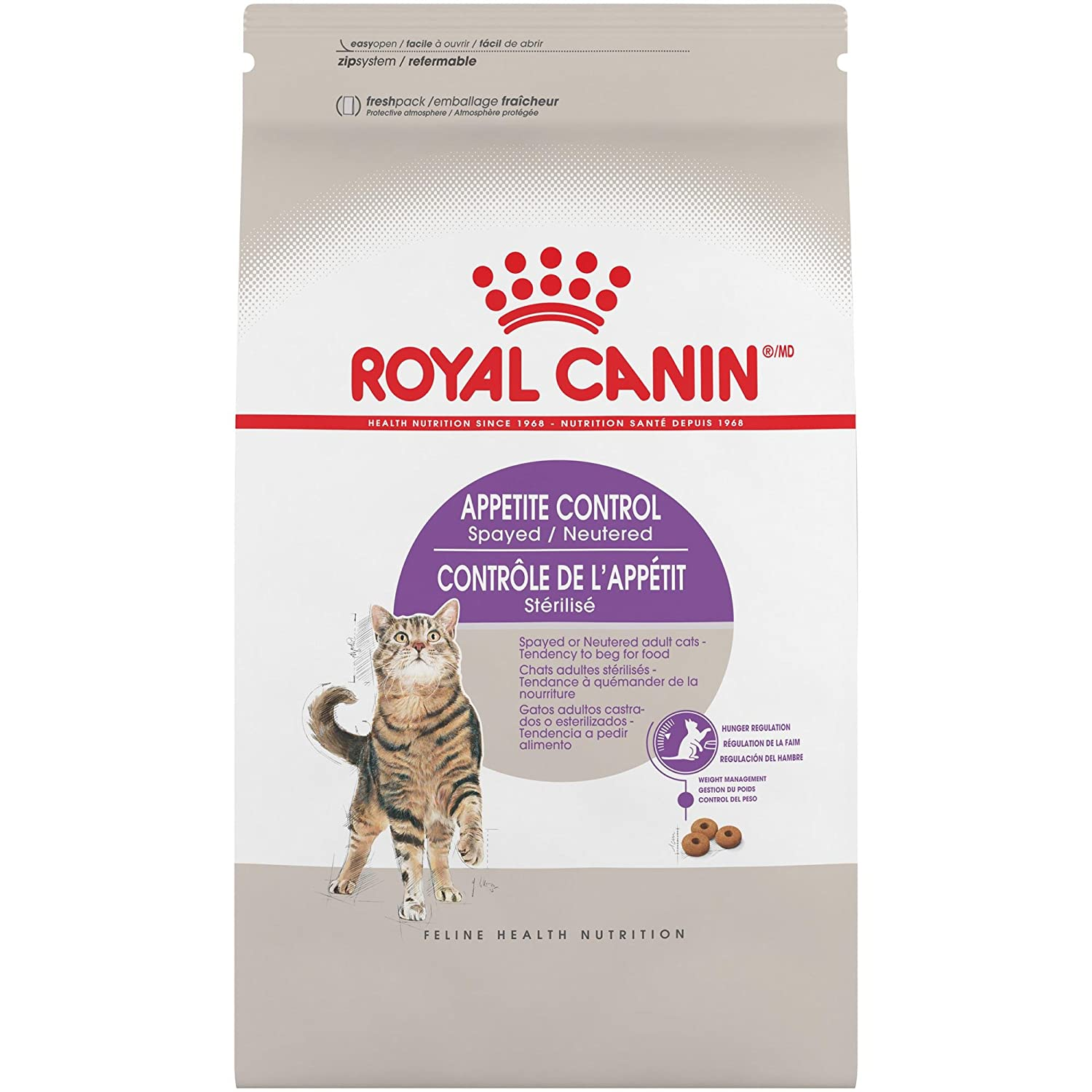 2.5-Pound Royal Canin Feline Health Nutrition Spayed Neutered Appetite Control Dry Cat Food, 2.5-Pound
