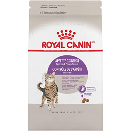 Royal Canin Feline Health Nutrition Spayed/Neutered Appetite Control Dry Cat Food, 2.5-