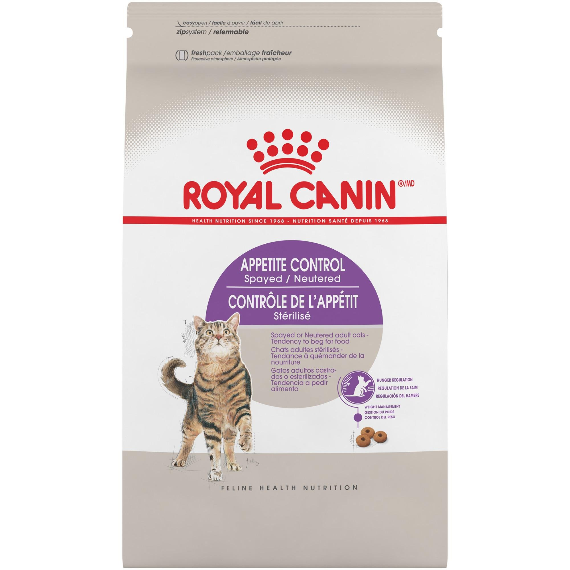 Royal Canin FELINE HEALTH NUTRITION Spayed/Neutered Appetite Control dry cat food, 6-Pound
