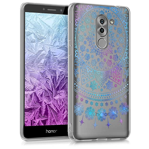 kwmobile TPU Silicone Case for Huawei Honor 6X / GR5 2017 / Mate 9 Lite - Crystal Clear Smartphone Back Case Protective Cover - Blue/Dark ...