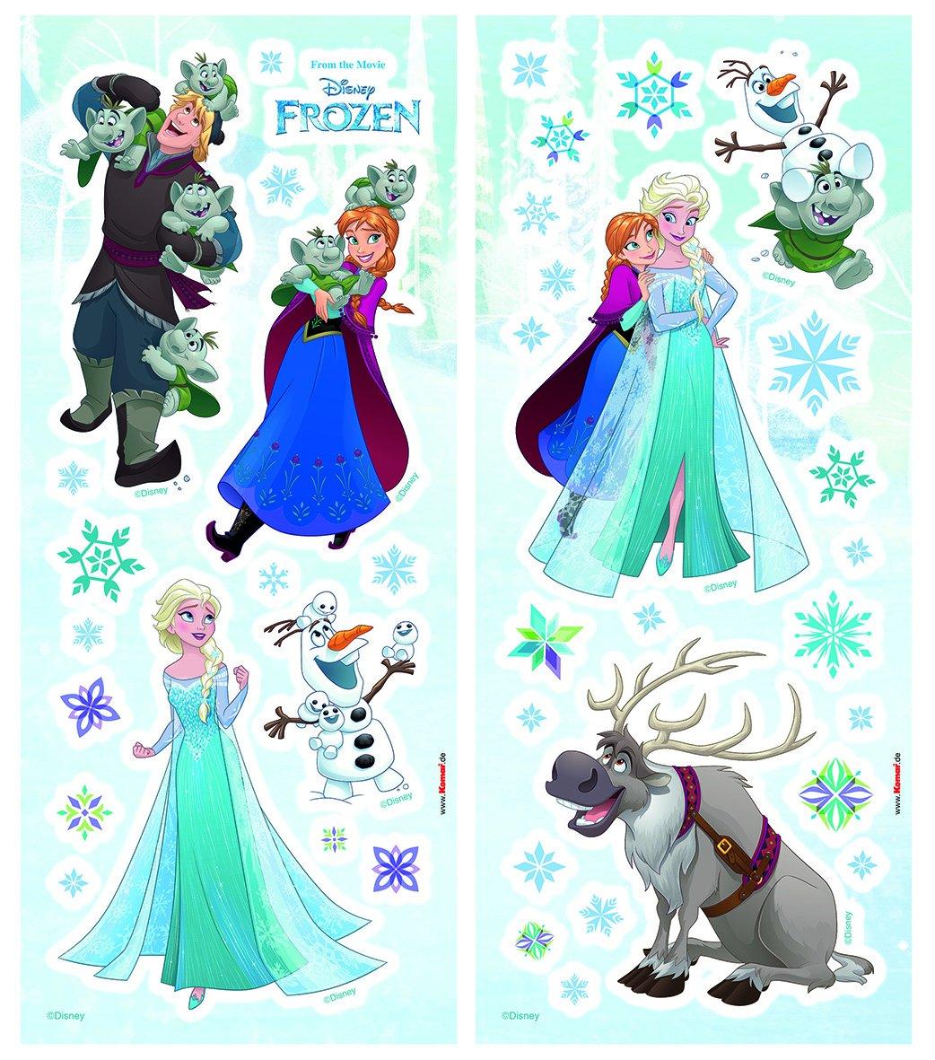 Komar 14046h Anna Deco-Sticker FROZEN SISTERS 50 x 70 cm Wandtattoo Disney Wandsticker Eisk/önigin Elsa Wandbild Wandaufkleber Olaf