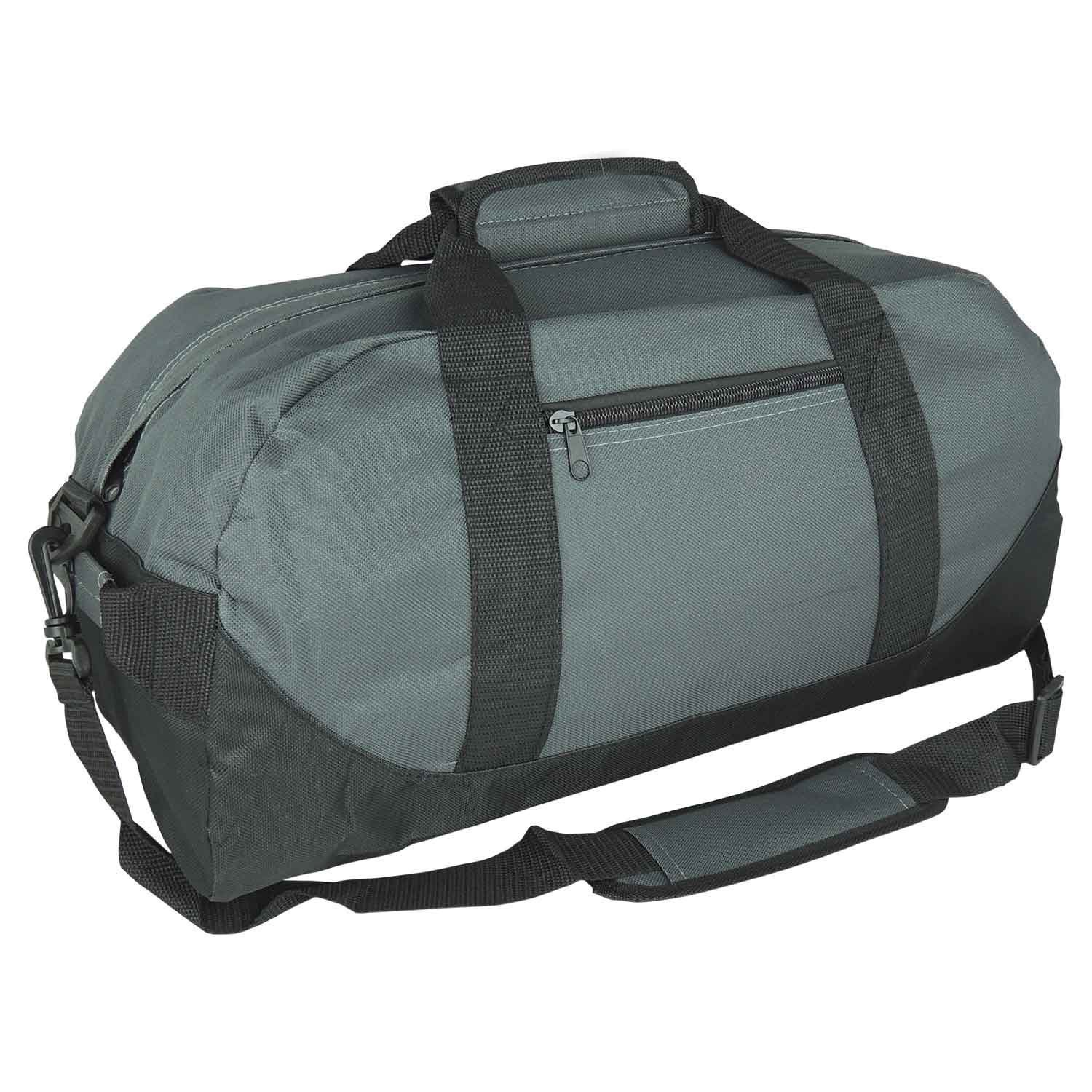 iEquip 12'' 14'' 18'' 21'' Duffle Bag, Gym, Travel Bag Two Tone (Medium (18''x 9'' x 9''), Gray) by iEquip