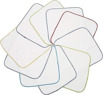 Zollner 10 toallitas faciales infantiles, algodón 100%, 25x25 cm ...