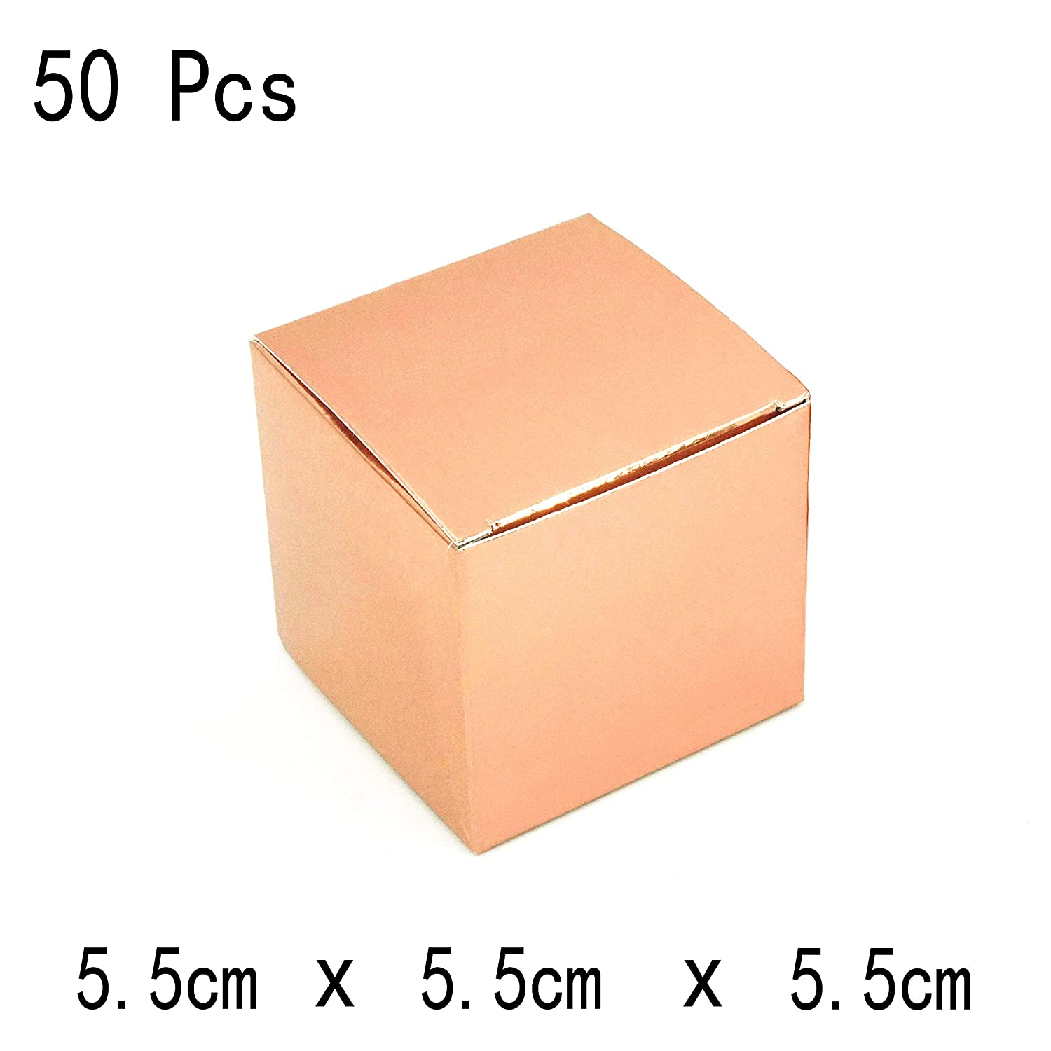 50Ct Rose Gold Wedding Bachelorette Party Favors Boxes Decorations Small Bridal Shower Party Candy Treat Gift Boxes Baby Shower Birthday Party Favors Boxes Supplies