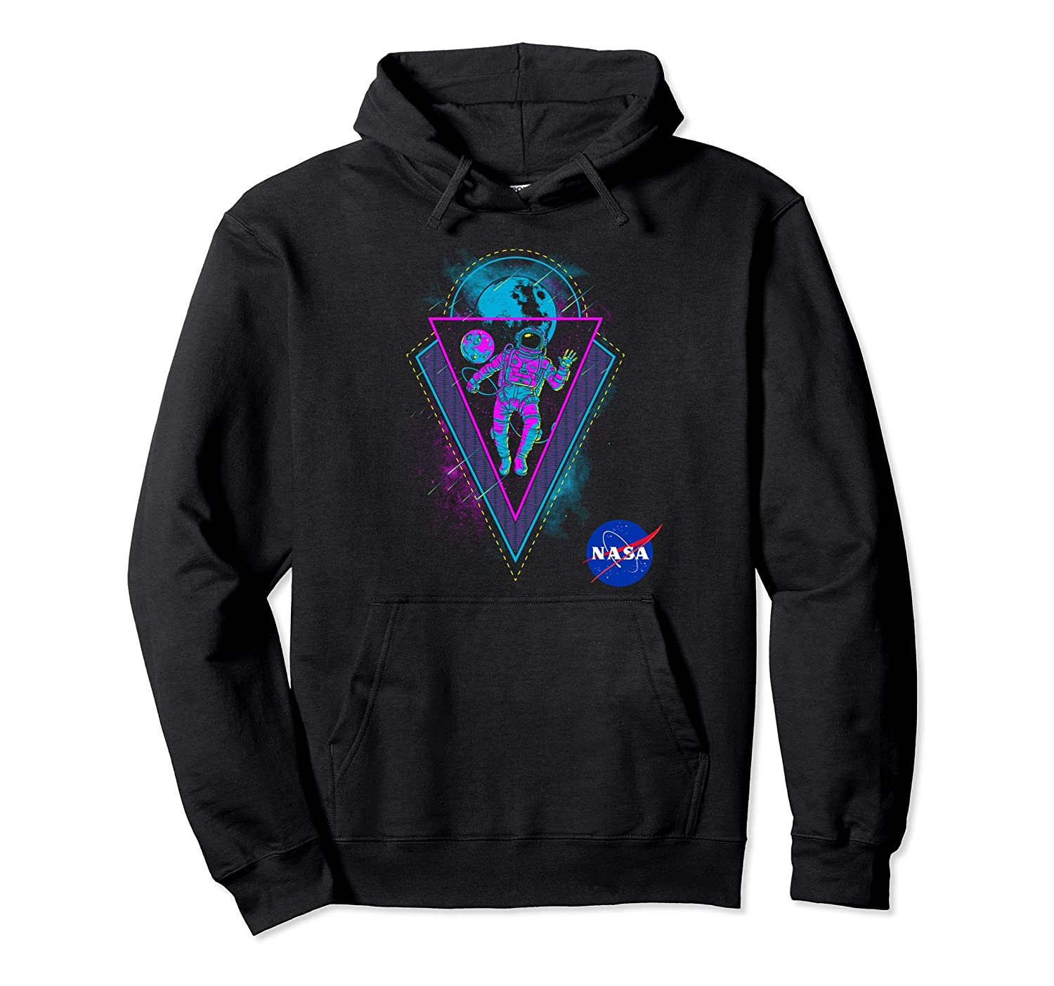 NASA Astronaut Floating in Space Techno Hoodie-Bawle