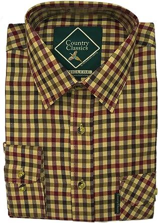 Country Classics – camiseta a cuadros, de hombre, rústica – pesada – de Calidad – Fácil cuidado