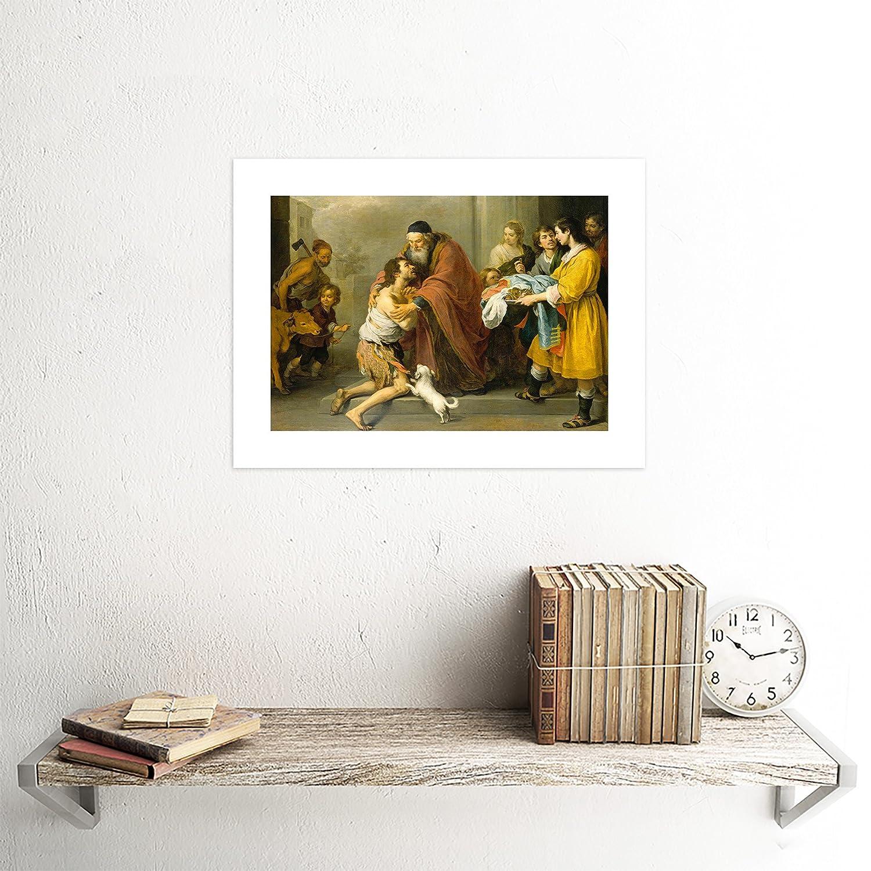 The Art Stop Painting BARTOLOMEO Esteban Murillo Return Prodigal Son Framed Print F12X2756
