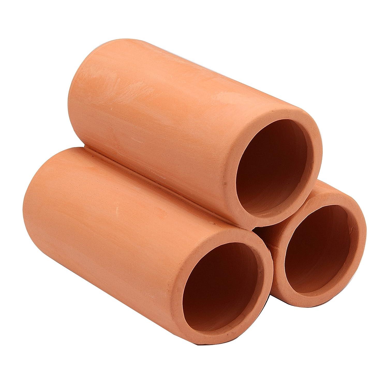 ジェックス 癒し水景 素焼きの隠れ家 丸土管ミニ3連 長さ9cm