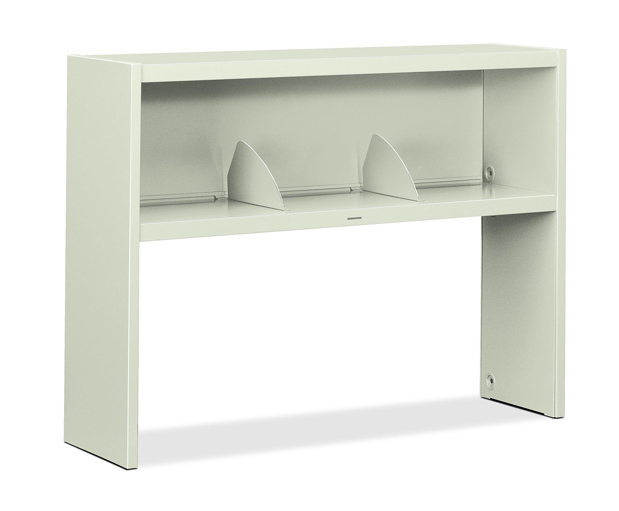 HON 386548NQ 38000 Series Stack On Open Shelf Hutch, 48w x 13 1/2d x 34 3/4h, Light Gray