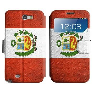 Graphic4You Perú Bandera Peruana Vintage Grunge Diseño Cuero ...