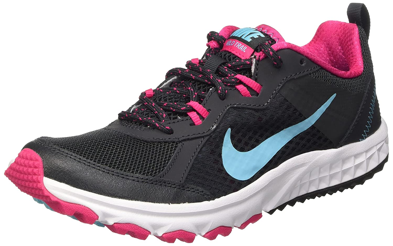New Nike Lunarfly+ 3 Trail - Womens Trail Running Shoes - Grey/Pink/Yellow Online | Sportitude