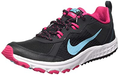 Nike Women's Wild Trail Anthrct/Plrzd Bl/Vvd Pnk/White Running Shoe 5.5
