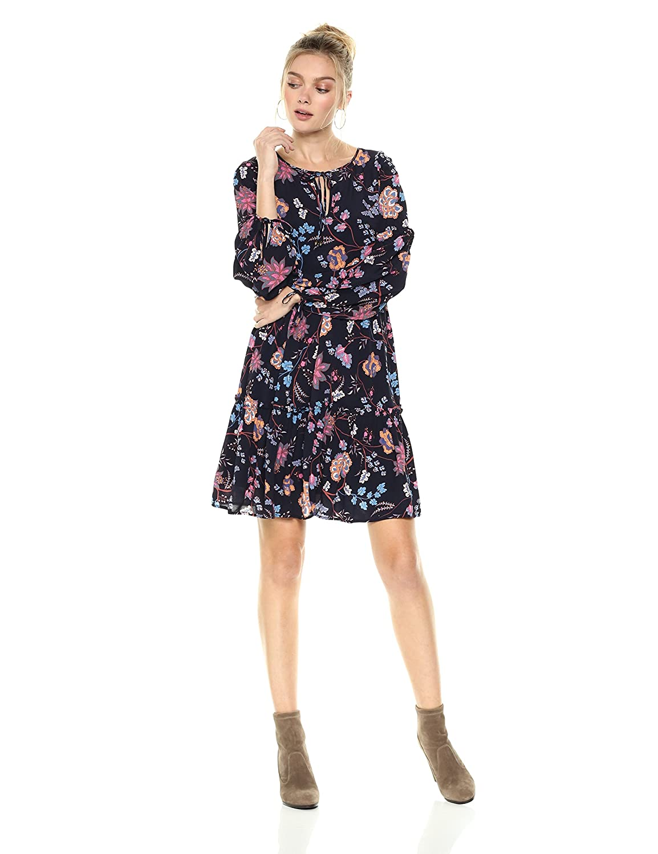 Ella Moon Womens Amabel Long Sleeve Smock Dress