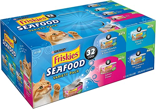 Friskies Seafood Variety Pack Canned Cat Food 32 – 5.5oz Cans