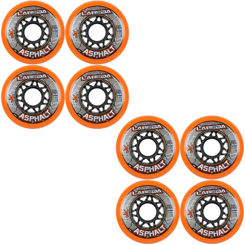 Ruedas de skate en línea Labeda Asphalt Orange - 76mm