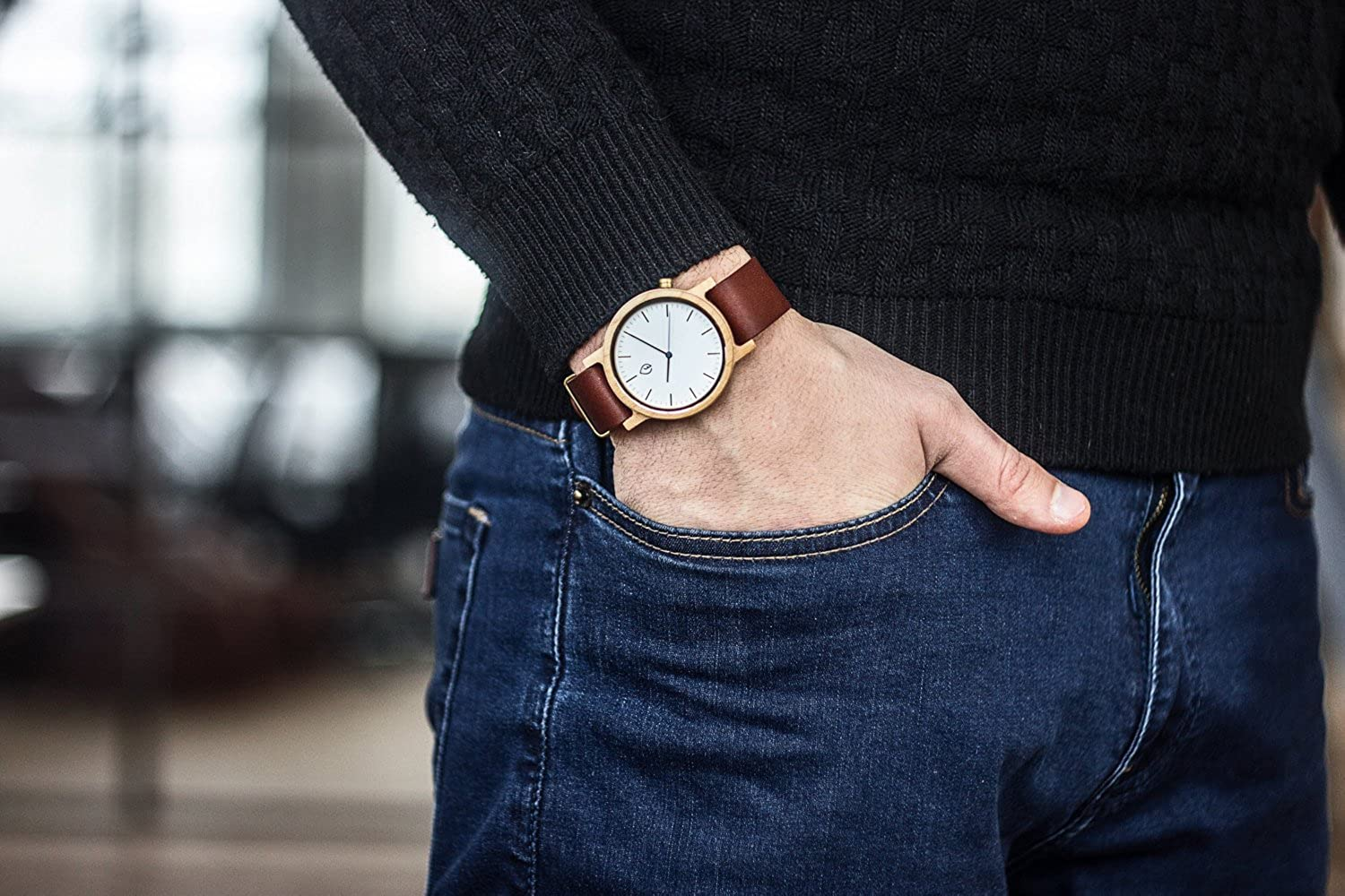 TheHrdwood Mens Wooden Watch Wood Watches Maple