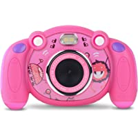 Campark Kids Camera HD Digital Children Camcorders 2 inch Screen with Flash, Mic Non-Slip and Anti-Drop Design Christmas New Year Birthday Festival Toy Gift