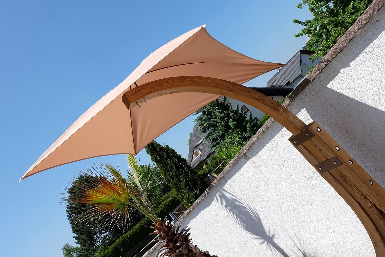 ASS Design H/ängesesselgestell NAVASSA aus Holz L/ärche sehr stabil mit oder ohne Dach Gr/ö/ße:mit Dach