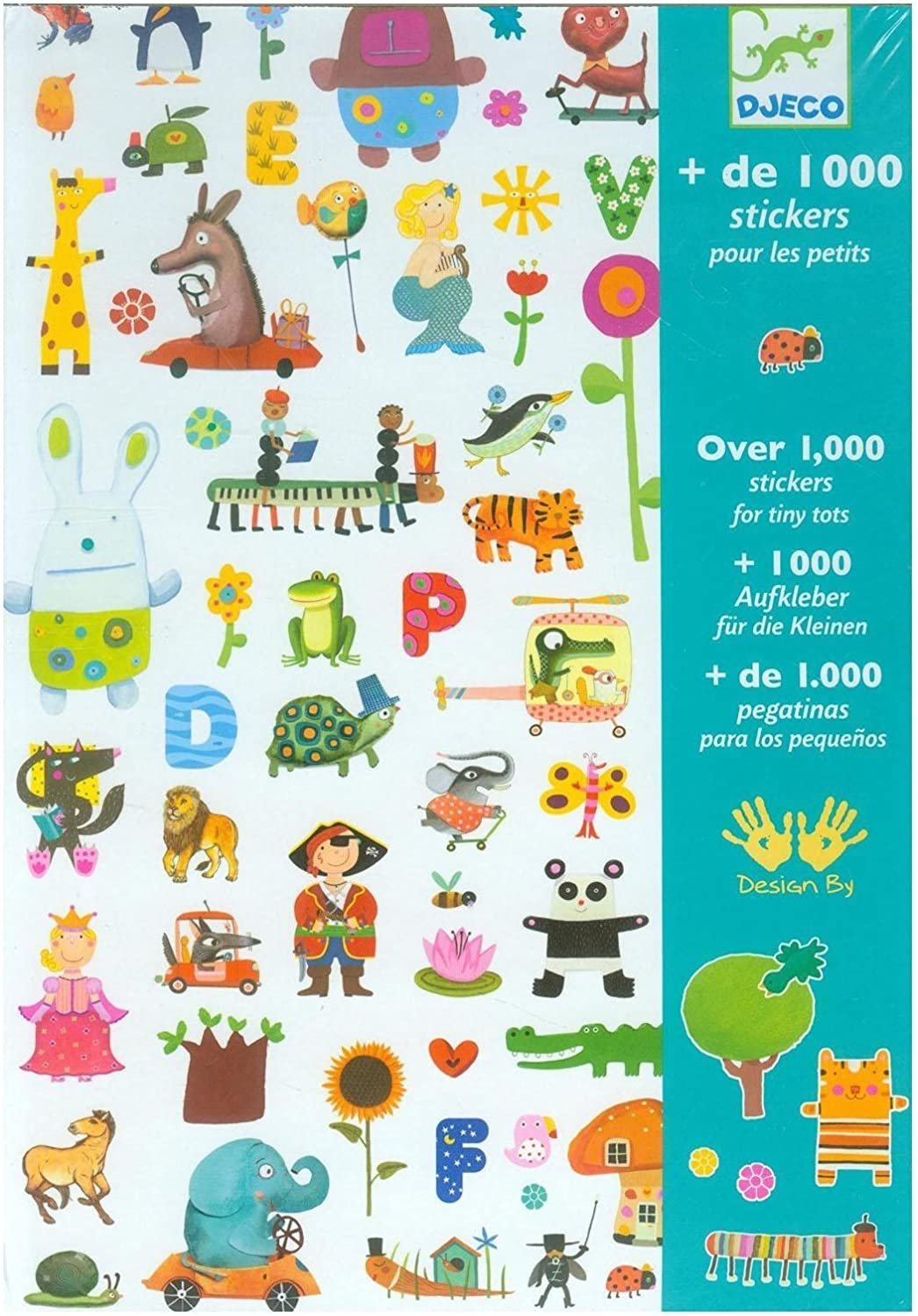 Djeco DJ08950 Stickers-1000 Stickers For Little Ones Novelty
