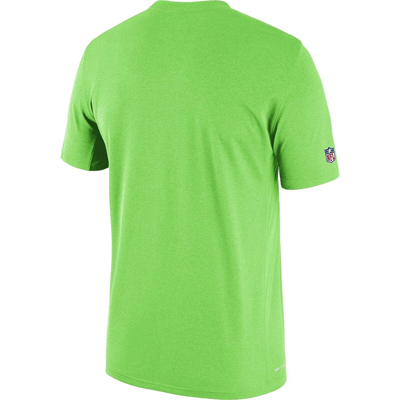Nike Seattle Seahawks Sideline Seismic Legend Performance T-Shirt Neon Green