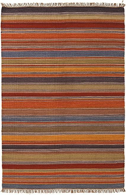 The Indian Arts Ooty Indio Kilim Alfombra Gris Rojo Beige Colores 80% Lana 20% algodón 120 x 180 cm: Amazon.es: Hogar