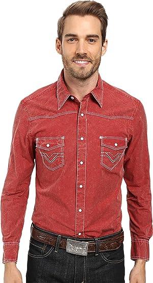 Rock and Roll Cowboy Mens Long Sleeve Snap B2S8428