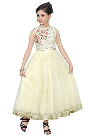 Indian Design Kid Ethnic Cream Frock for Girls (1 - 2 Year)