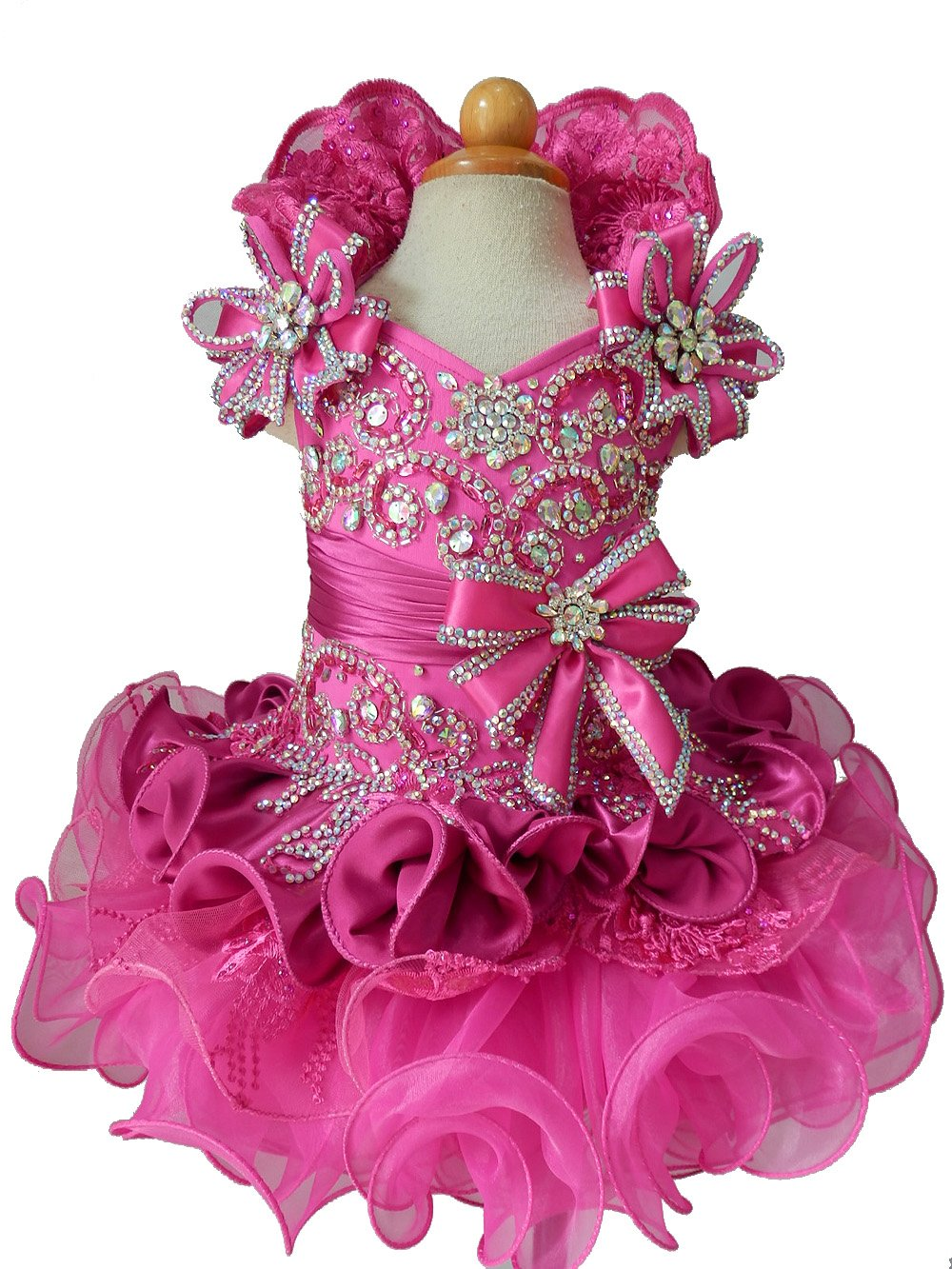 Jenniferwu Infant Toddler Baby Newborn Little Girl's Pageant Party Birthday Dress G015 Custom Make From Size 1 To Size 7