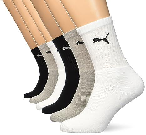 b7ea00636a767 Puma Chaussettes de sport Regular Crew (Lot de 6  paires)-Multicolor(Grey/White/Black)-43-46: Amazon.fr: Sports et Loisirs