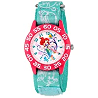 Kids' W001190 Ariel Little Mermaid Time Teacher Watch with Blue Nylon Band