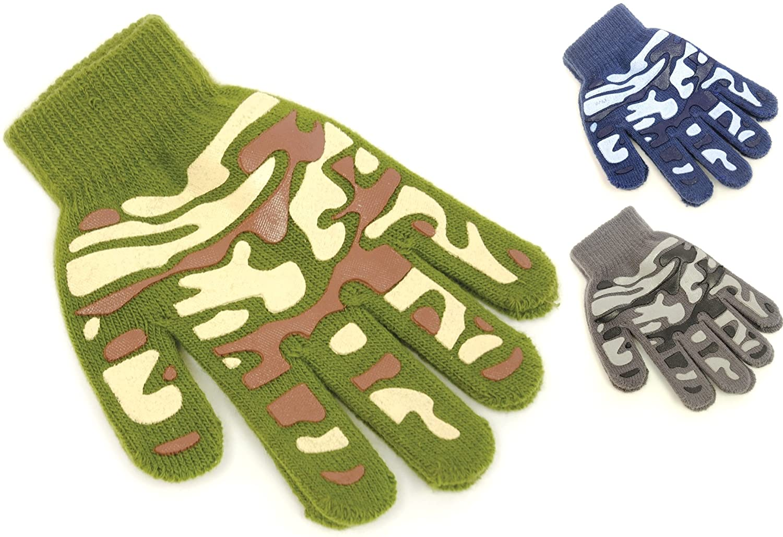 RJM Kids Grippy Camouflage Design Magic Gloves GL111