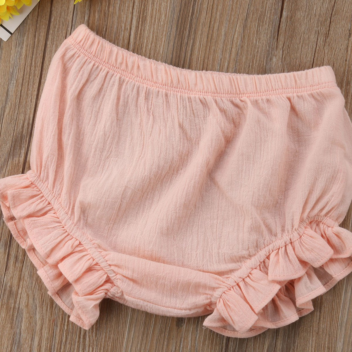 Mornbaby Baby Girl's Bloomers Cotton Ruffle Panty Diaper Covers Underwear Shorts Toddler Kids Girls (Pink, 2-3 Years) by Mornbaby (Image #3)