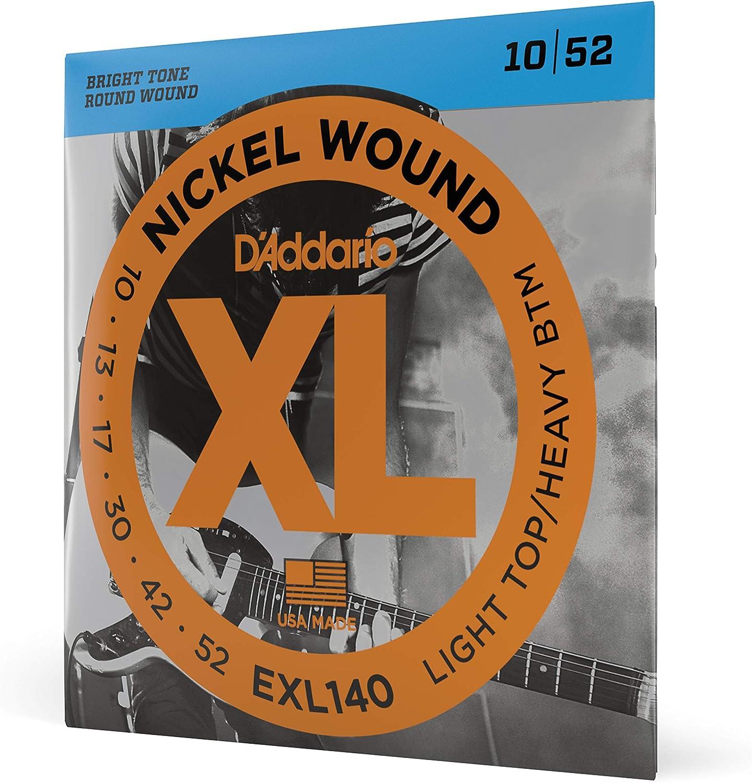 D'Addario EXL140 - Juego de cuerdas para guitarra eléctrica de níquel, 010' - 052'