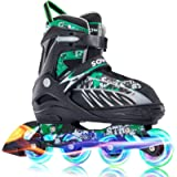 Sowume Adjustable Inline Skates for Girls and Boys, Roller Blades Skates with All Light Up Wheels, Patines para Mujer…