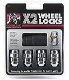 Gorilla Automotive (71621X 12mm x 1.25 Thread Size Chrome Acorn X2 Wheel Lock, (Pack of 4)