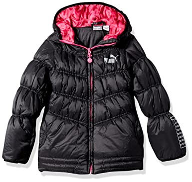 Amazon.com: PUMA Girls' Quilted Puffer Jacket: Clothing : puma quilted jacket - Adamdwight.com