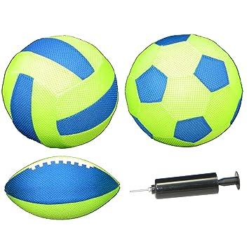 New Sports Neopren Fußball Fußball Handpumpe im Set